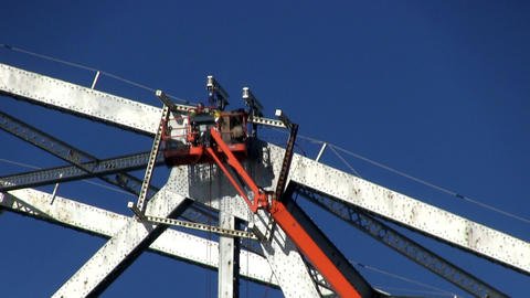 Cape cod canal bridge workers; 5 Footage