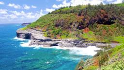 Kileaua Point Lighthouse in Hawaii Footage