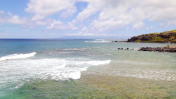 Molokai beach in Hawaii Footage