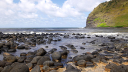 Rocky shoreline in Hawaii Footage