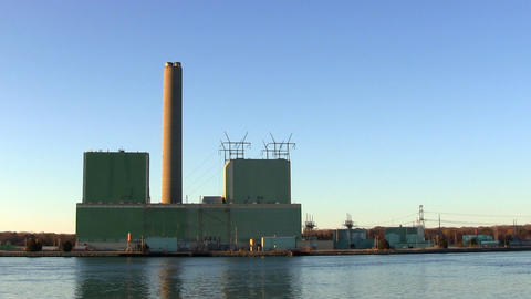 Cape cod electric power plant; left side Footage