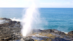 Spouting horn in Kauai Hawaii Footage
