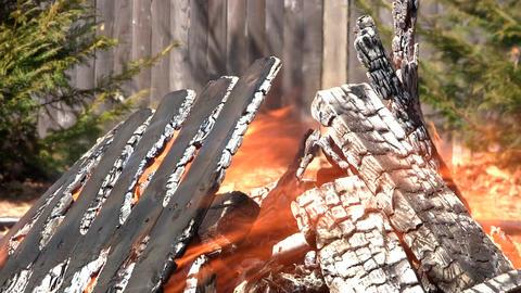Burning debris Footage