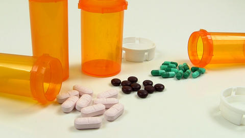 Drugs And Medicine; Capsules, Pills And Tablets stock footage