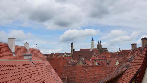 Rothenburg Ob Der Tauber stock footage