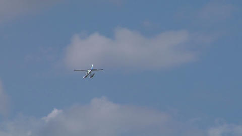 seaplane fly 08 Stock Video Footage