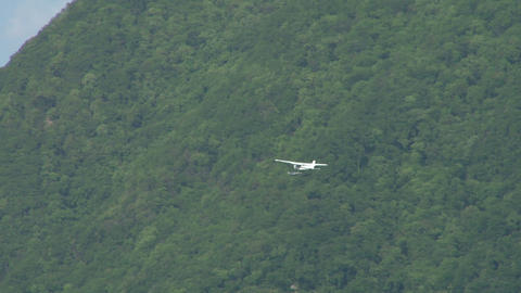 seaplane fly 12 Stock Video Footage