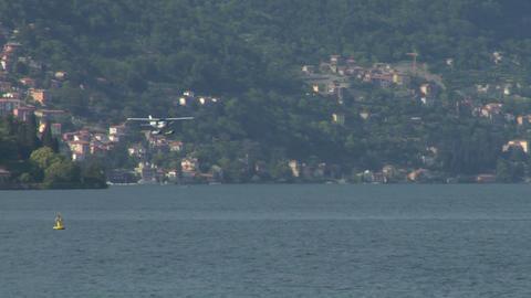 seaplane landing 11 Stock Video Footage
