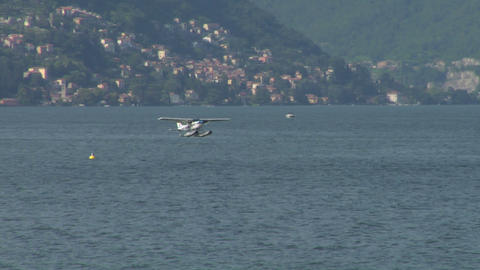 seaplane landing 11 Stock Video Footage