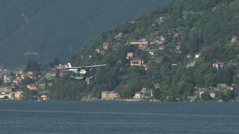 seaplane landing 13 e Stock Video Footage