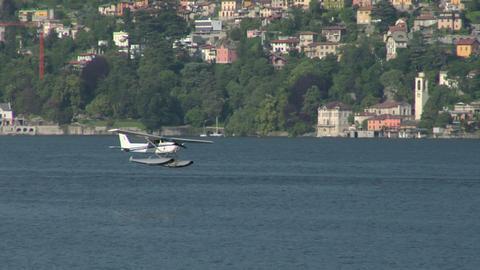 seaplane landing 13 e Stock Video Footage