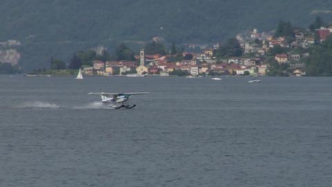 seaplane takeoff 12 e Stock Video Footage