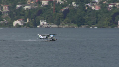 seaplane takeoff 12 e Stock Video Footage