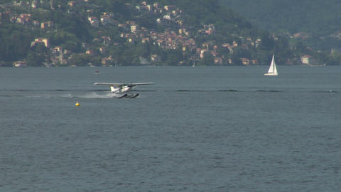 seaplane takeoff 14 e Stock Video Footage