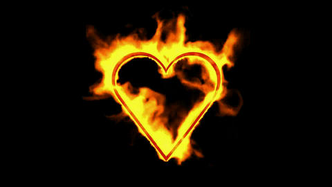 burning heart,valentine's day energy heart Stock Video Footage