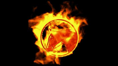 fire horse symbol Animation