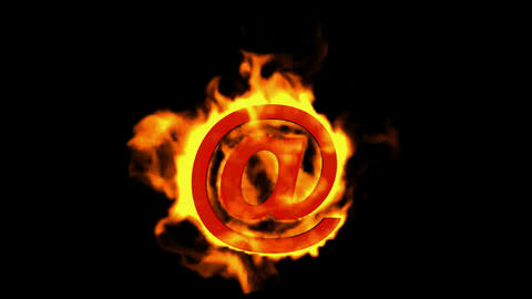 @ mail,Internet fire symbol Stock Video Footage
