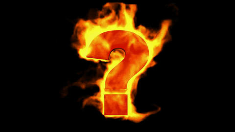 fire Question mark Stock Video Footage