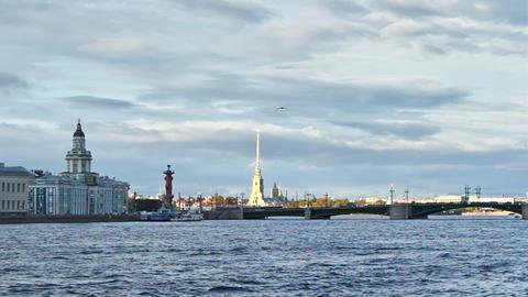 University Embankment and Palace Bridge Footage