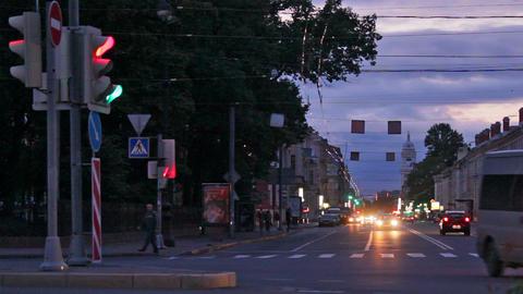 Night pedestrain Stock Video Footage