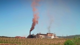 Air pollution by heavy industry Stock Video Footage
