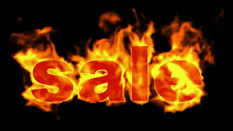 burning sale word,hot sale Animation