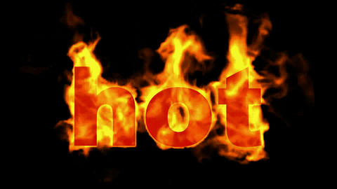 burning hot word Animation