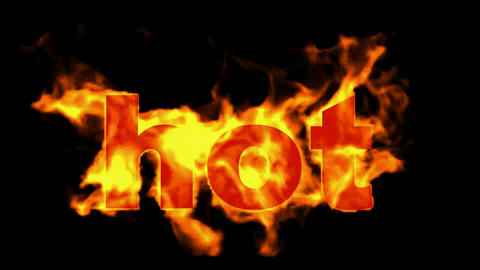 burning hot word Stock Video Footage