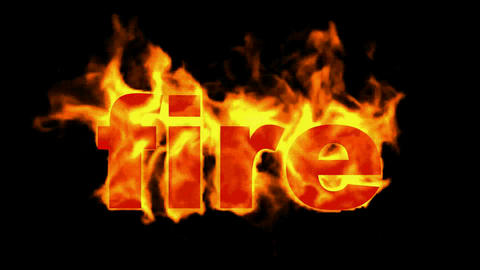burning capital fire word Stock Video Footage