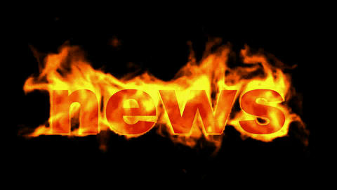 burning news word Stock Video Footage