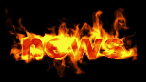 burning news word Stock Video Footage