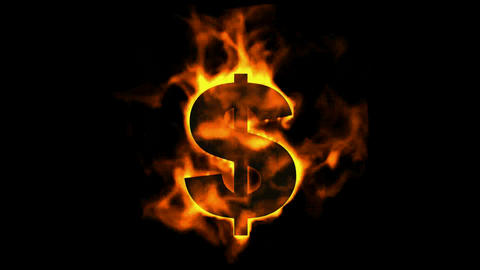 fire dollar symbol Animation