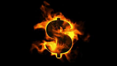 fire dollar symbol Stock Video Footage