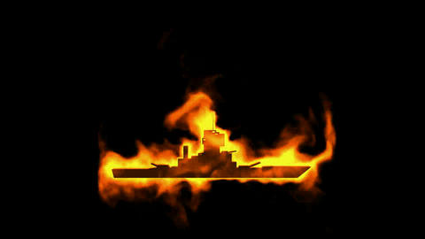 burning chaser and fire ship symbol Animation