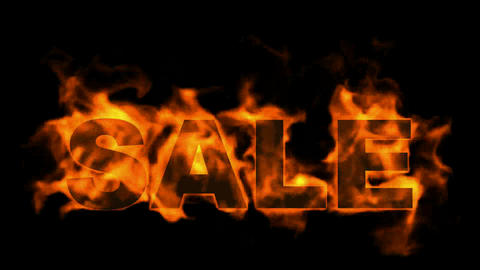 hot sale,burning sale text Stock Video Footage