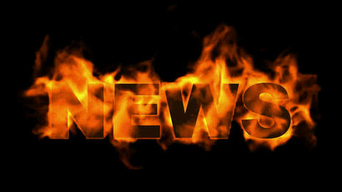 news word,fire text Stock Video Footage
