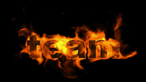 team,fire business key words Stock Video Footage