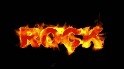 fire rock word Stock Video Footage