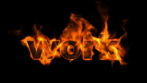 work,business fire key word Animation