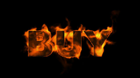 burning buy word Stock Video Footage