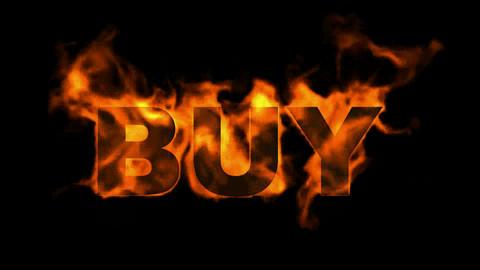 burning buy word Stock Video Footage