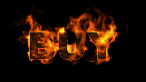 burning buy word Animation