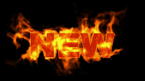 new word,fire text Stock Video Footage