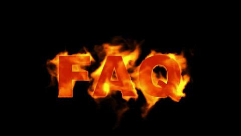 fire FAQ text Stock Video Footage