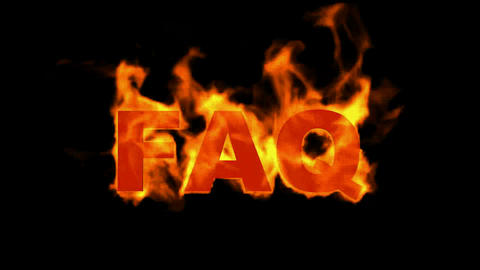 fire FAQ text Animation