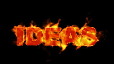 fire ideas word Stock Video Footage