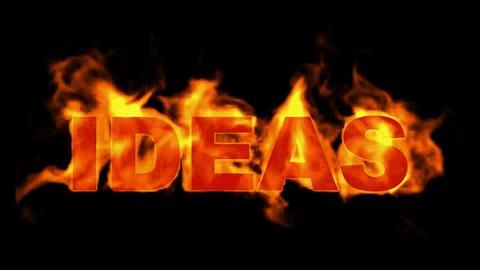 fire ideas word Animation