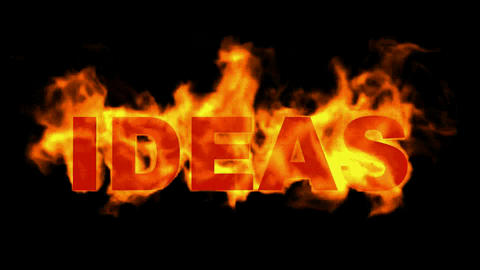 fire ideas word Stock Video Footage