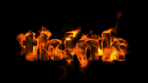 fire think word Stock Video Footage