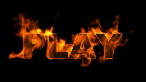 sign fire play word Stock Video Footage